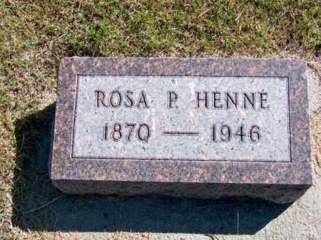 HENNE, ROSA P. - Brown County, Nebraska | ROSA P. HENNE - Nebraska Gravestone Photos
