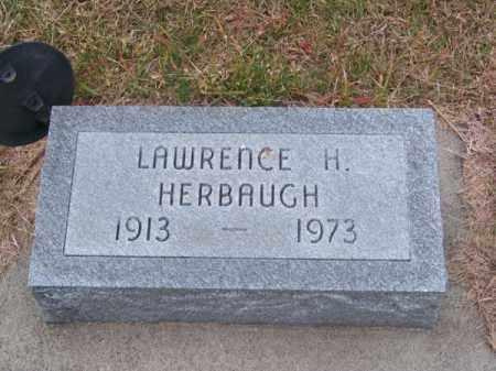HERBAUGH, LAWRENCE H. - Brown County, Nebraska | LAWRENCE H. HERBAUGH - Nebraska Gravestone Photos