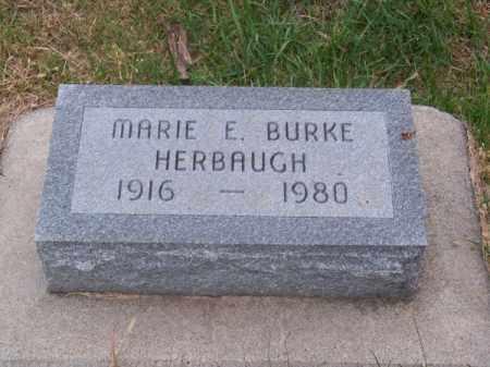 BURKE HERBAUGH, MARIE E. - Brown County, Nebraska | MARIE E. BURKE HERBAUGH - Nebraska Gravestone Photos