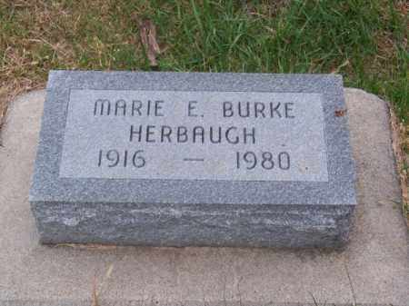 HERBAUGH, MARIE E. - Brown County, Nebraska | MARIE E. HERBAUGH - Nebraska Gravestone Photos