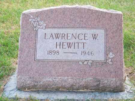 HEWITT, LAWRENCE W. - Brown County, Nebraska   LAWRENCE W. HEWITT - Nebraska Gravestone Photos