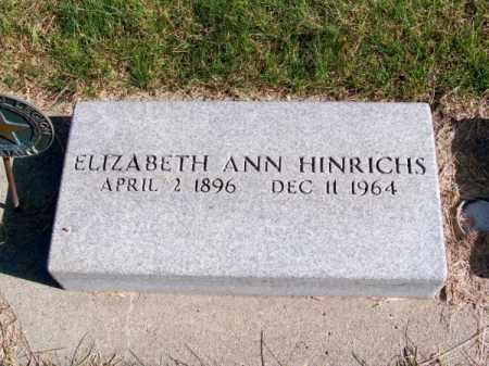 HINRICHS, ELIZABETH ANN - Brown County, Nebraska | ELIZABETH ANN HINRICHS - Nebraska Gravestone Photos