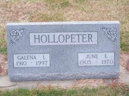 HOLLOPETER, GALENA L. - Brown County, Nebraska   GALENA L. HOLLOPETER - Nebraska Gravestone Photos