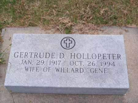 HOLLOPETER, GERTRUDE D. - Brown County, Nebraska   GERTRUDE D. HOLLOPETER - Nebraska Gravestone Photos