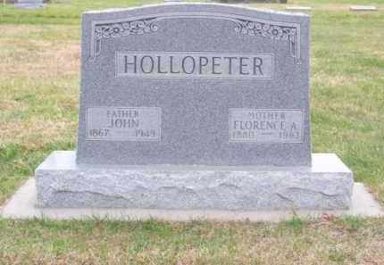 HOLLOPETER, FLORENCE A. - Brown County, Nebraska | FLORENCE A. HOLLOPETER - Nebraska Gravestone Photos
