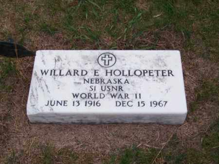 HOLLOPETER, WILLARD E. - Brown County, Nebraska | WILLARD E. HOLLOPETER - Nebraska Gravestone Photos