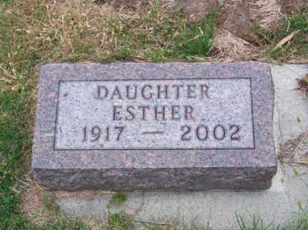 HONAKER, ESTHER - Brown County, Nebraska | ESTHER HONAKER - Nebraska Gravestone Photos