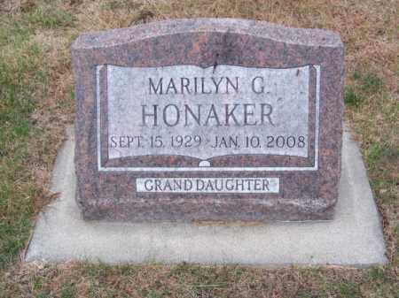 HONAKER, MARILYN G. - Brown County, Nebraska   MARILYN G. HONAKER - Nebraska Gravestone Photos