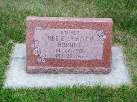 LAMBLEY HORNER, ABBIE - Brown County, Nebraska | ABBIE LAMBLEY HORNER - Nebraska Gravestone Photos