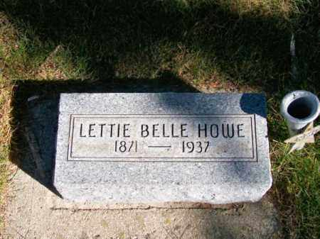 HOWE, LETTIE BELLE - Brown County, Nebraska | LETTIE BELLE HOWE - Nebraska Gravestone Photos