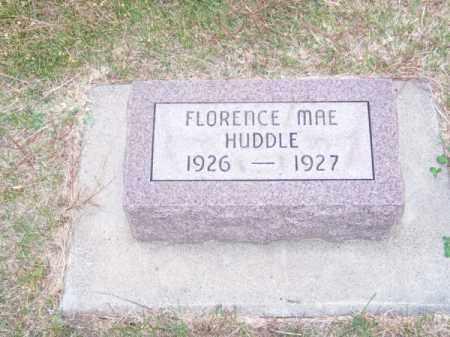 HUDDLE, FLORENCE MAE - Brown County, Nebraska | FLORENCE MAE HUDDLE - Nebraska Gravestone Photos
