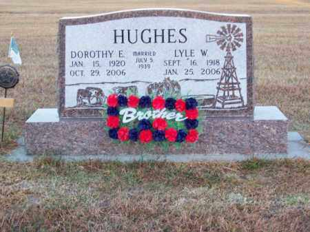 HUGHES, LYLE W. - Brown County, Nebraska | LYLE W. HUGHES - Nebraska Gravestone Photos