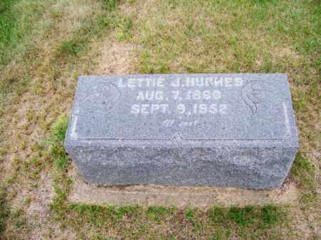 HUGHES, LETTIE J. - Brown County, Nebraska | LETTIE J. HUGHES - Nebraska Gravestone Photos