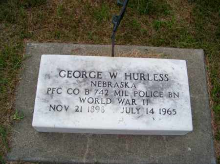 HURLESS, GEORGE W. - Brown County, Nebraska   GEORGE W. HURLESS - Nebraska Gravestone Photos