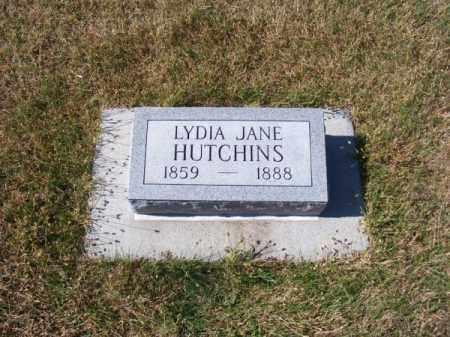 HUTCHINS, LYDIA JANE - Brown County, Nebraska | LYDIA JANE HUTCHINS - Nebraska Gravestone Photos