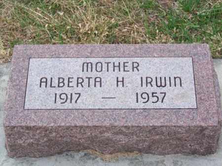IRWIN, ALBERTA H. - Brown County, Nebraska | ALBERTA H. IRWIN - Nebraska Gravestone Photos