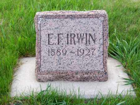 IRWIN, E. F. - Brown County, Nebraska | E. F. IRWIN - Nebraska Gravestone Photos
