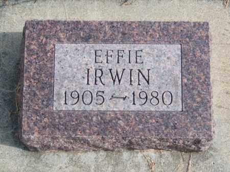 IRWIN, EFFIE - Brown County, Nebraska | EFFIE IRWIN - Nebraska Gravestone Photos