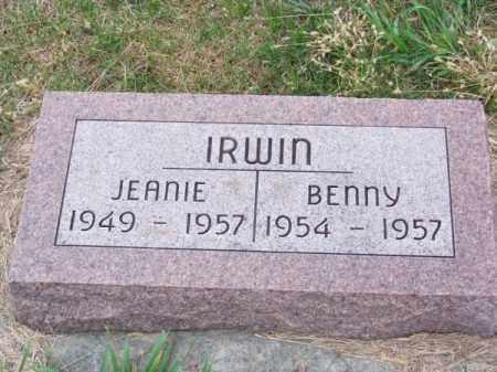 IRWIN, BENNY - Brown County, Nebraska | BENNY IRWIN - Nebraska Gravestone Photos