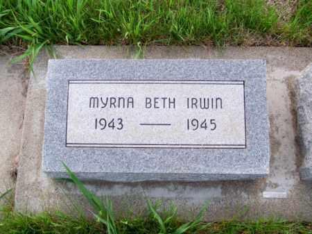 IRWIN, MYRNA BETH - Brown County, Nebraska | MYRNA BETH IRWIN - Nebraska Gravestone Photos