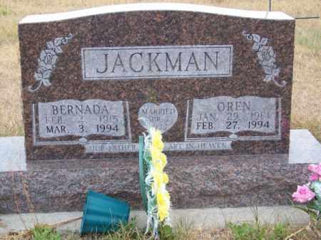 JACKMAN, OREN - Brown County, Nebraska | OREN JACKMAN - Nebraska Gravestone Photos