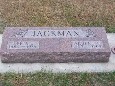 JACKMAN, EFFIE J. - Brown County, Nebraska | EFFIE J. JACKMAN - Nebraska Gravestone Photos