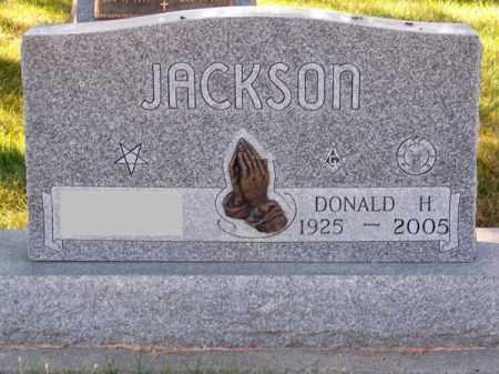 JACKSON, DONALD H. - Brown County, Nebraska   DONALD H. JACKSON - Nebraska Gravestone Photos