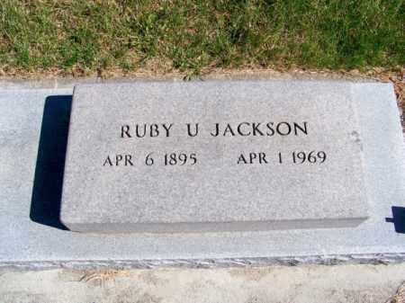 JACKSON, RUBY U. - Brown County, Nebraska | RUBY U. JACKSON - Nebraska Gravestone Photos