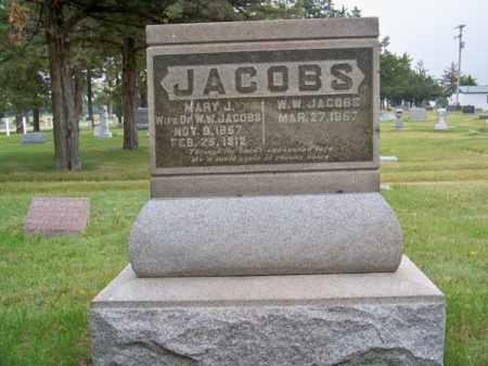 JACOBS, W. W. - Brown County, Nebraska   W. W. JACOBS - Nebraska Gravestone Photos