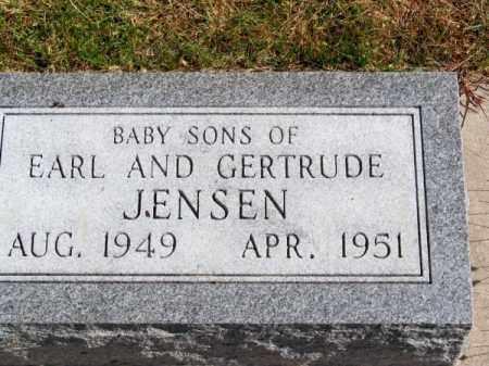JENSEN, BABY SONS - Brown County, Nebraska | BABY SONS JENSEN - Nebraska Gravestone Photos