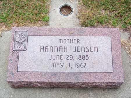 JENSEN, HANNAH - Brown County, Nebraska | HANNAH JENSEN - Nebraska Gravestone Photos