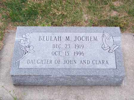 JOCHEM, BEULAH M. - Brown County, Nebraska   BEULAH M. JOCHEM - Nebraska Gravestone Photos