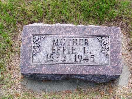 JOHNSON, EFFIE L. - Brown County, Nebraska   EFFIE L. JOHNSON - Nebraska Gravestone Photos
