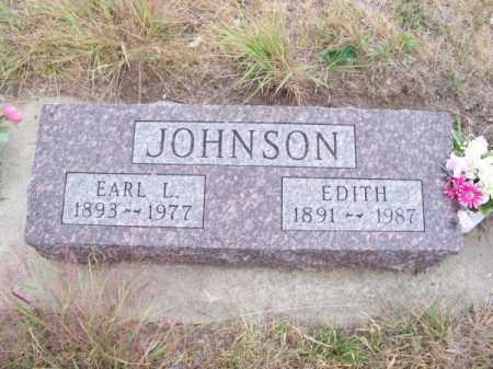 JOHNSON, EARL L. - Brown County, Nebraska   EARL L. JOHNSON - Nebraska Gravestone Photos