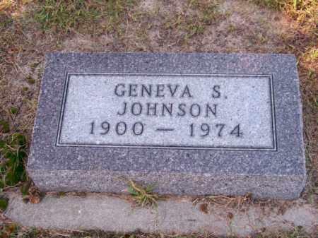 JOHNSON, GENEVA S. - Brown County, Nebraska   GENEVA S. JOHNSON - Nebraska Gravestone Photos