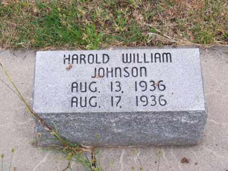 JOHNSON, HAROLD WILLIAM - Brown County, Nebraska   HAROLD WILLIAM JOHNSON - Nebraska Gravestone Photos