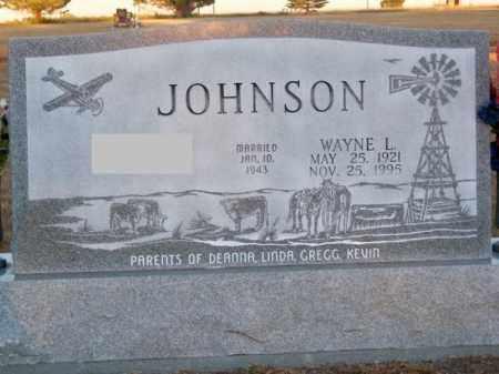 JOHNSON, WAYNE L. - Brown County, Nebraska   WAYNE L. JOHNSON - Nebraska Gravestone Photos