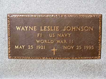 JOHNSON, WAYNE LESLIE - Brown County, Nebraska | WAYNE LESLIE JOHNSON - Nebraska Gravestone Photos