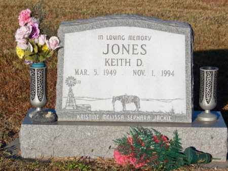 JONES, KEITH D. - Brown County, Nebraska   KEITH D. JONES - Nebraska Gravestone Photos