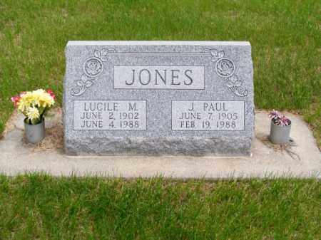 JONES, LUCILE M. - Brown County, Nebraska   LUCILE M. JONES - Nebraska Gravestone Photos