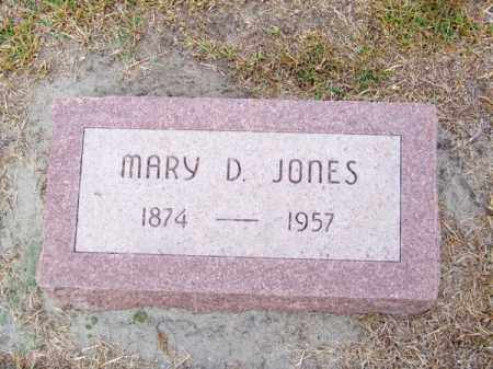 JONES, MARY D. - Brown County, Nebraska | MARY D. JONES - Nebraska Gravestone Photos