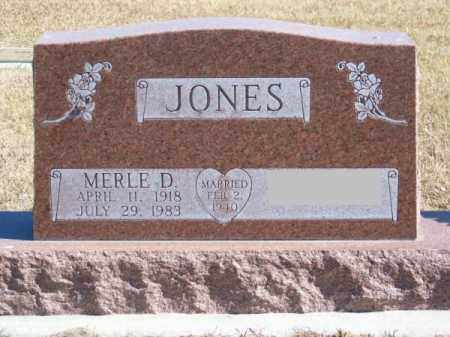 JONES, MERLE D. - Brown County, Nebraska | MERLE D. JONES - Nebraska Gravestone Photos