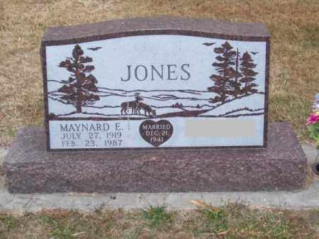 JONES, MAYNARD E. - Brown County, Nebraska | MAYNARD E. JONES - Nebraska Gravestone Photos
