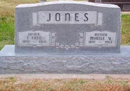 JONES, MYRTLE V. - Brown County, Nebraska | MYRTLE V. JONES - Nebraska Gravestone Photos