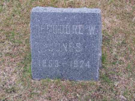 JONES, THEODORE W. - Brown County, Nebraska | THEODORE W. JONES - Nebraska Gravestone Photos