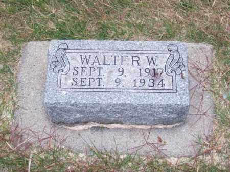 JONES, WALTER W. - Brown County, Nebraska | WALTER W. JONES - Nebraska Gravestone Photos