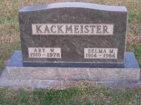 KACKMEISTER, ART W. - Brown County, Nebraska | ART W. KACKMEISTER - Nebraska Gravestone Photos