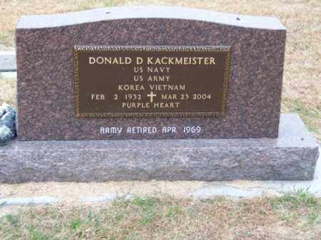 KACKMEISTER, DONALD D. - Brown County, Nebraska | DONALD D. KACKMEISTER - Nebraska Gravestone Photos