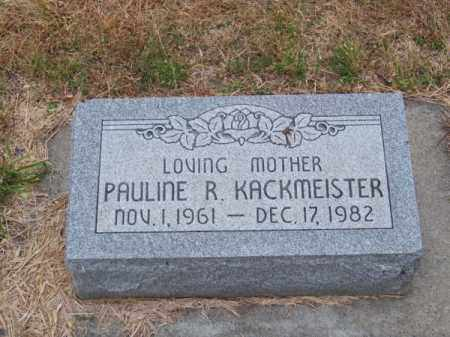 KACKMEISTER, PAULINE R. - Brown County, Nebraska | PAULINE R. KACKMEISTER - Nebraska Gravestone Photos
