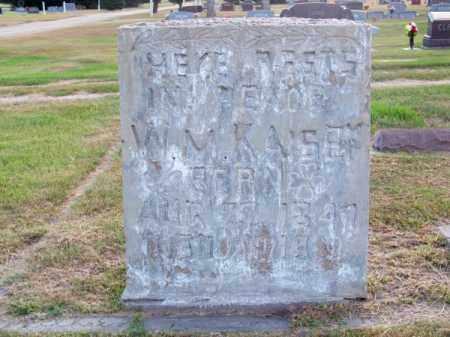 KAISER, W. M. - Brown County, Nebraska   W. M. KAISER - Nebraska Gravestone Photos